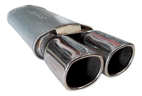 resonador miller galvanizado salidas cromo mofle silenciador
