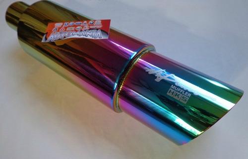 resonador muffler acero inox universal jdm
