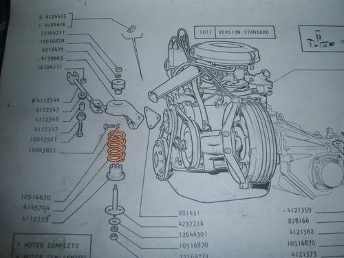 resorte pata soporte de motor fiat 133  r-14h246