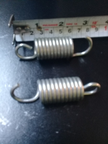 resortes para mini trampolin largo 7.5 cm total (30pz)