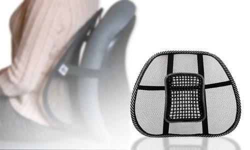 respaldar cojin lumbar + bolas antiestres corrector postura