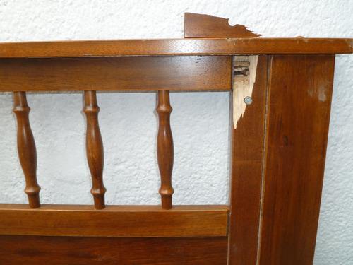 respaldares de cama de 2 plazas de madera con detalle