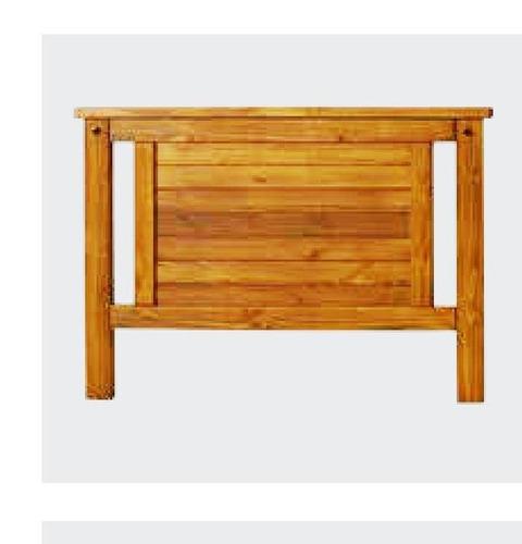 Respaldo cabecera en madera pino macizo rustico for Precio ladrillo rustico macizo