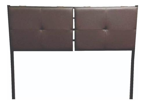 respaldo cabecera lu 2 plazas 140 tapizado chocolate dormire