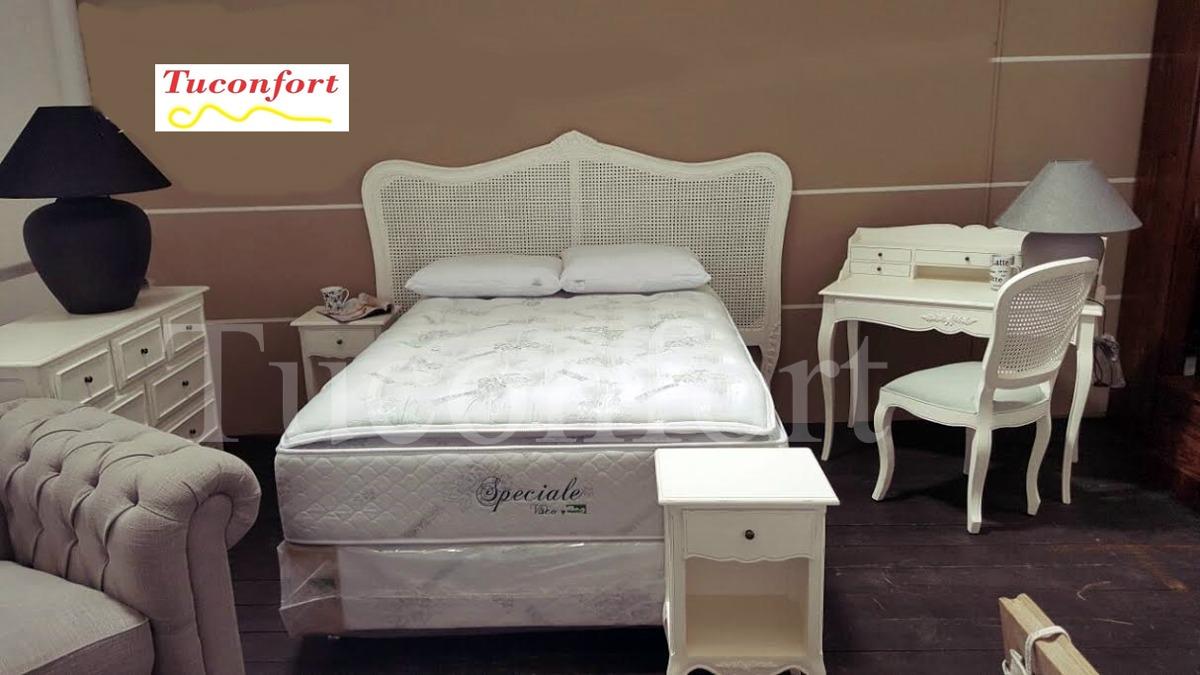 Respaldo Cabecera Rattan Madera Dormitorio Muebles - $ 16.500,00 en ...