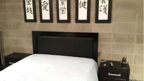 respaldo cama cabecera sommier marco lustrado y tapizado