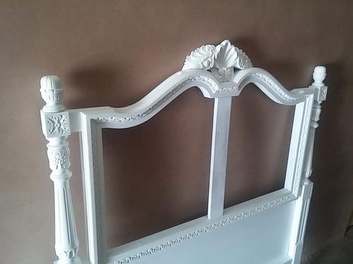 respaldo cama francesa capitone nueva ( no restaurada )
