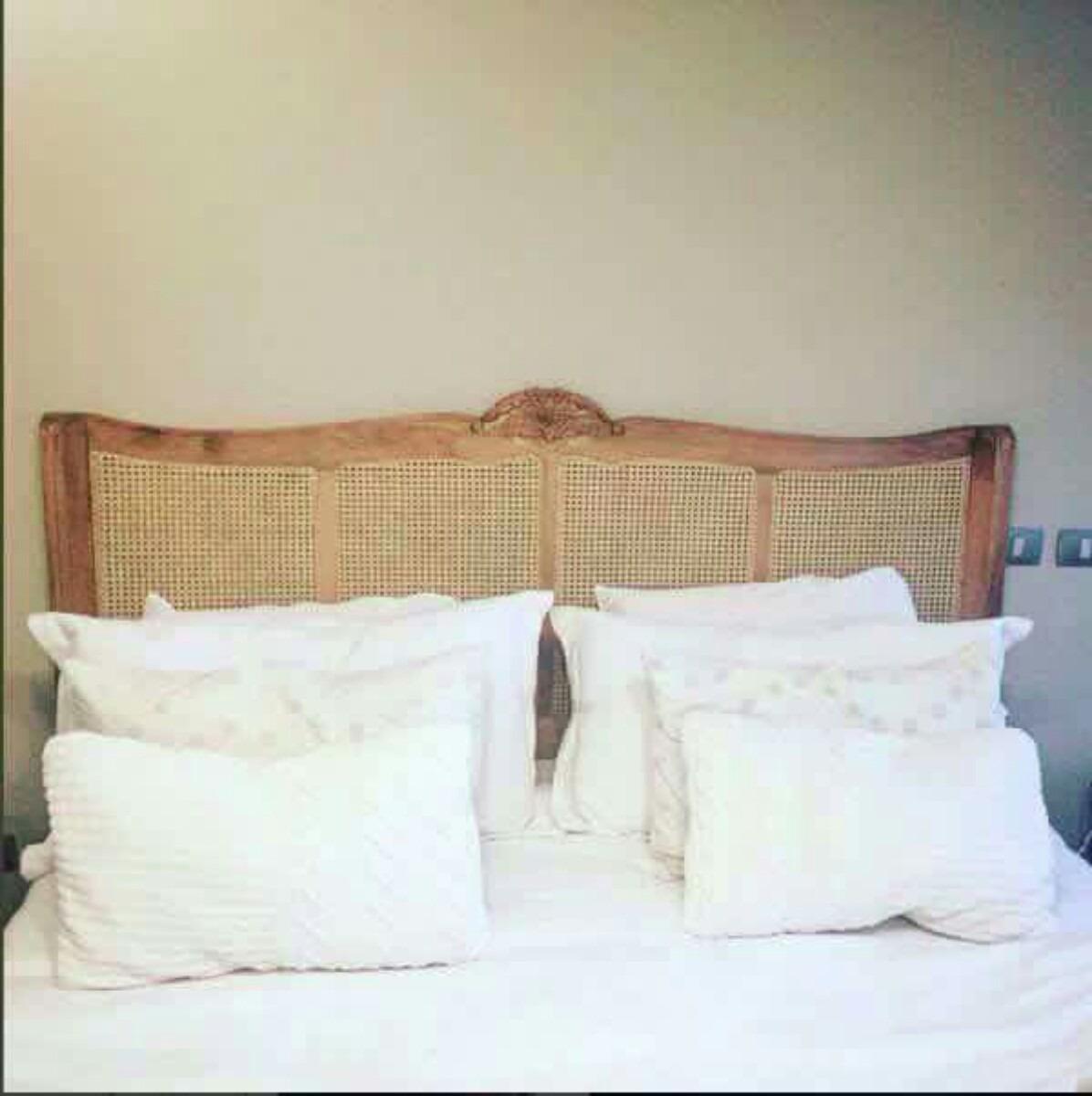 Respaldo cama king junco en mercado libre for Cuanto sale un sofa cama