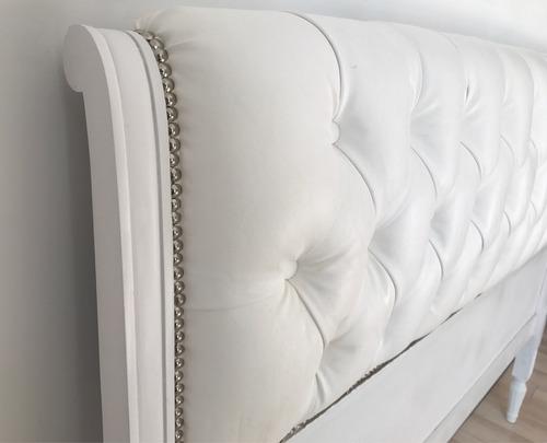 respaldo cama luis xv capitone vintage tachas plata sale