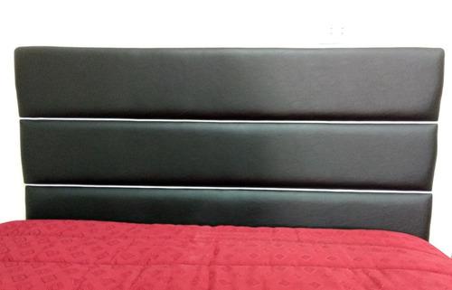 respaldo cama sommier 2 plazas 1/2 / queen size - talampaya