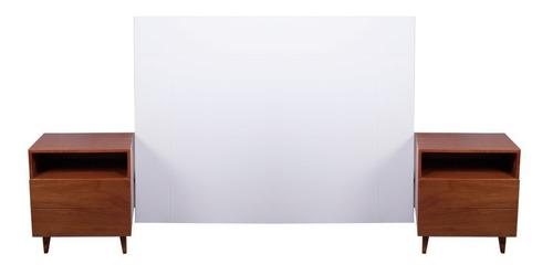 respaldo de cama 2 mesas de luz laqueados forbidan muebles