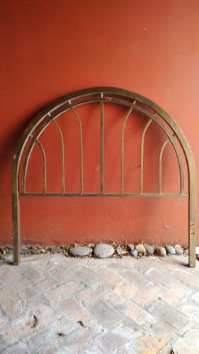respaldo de cama antiguo matrimonial, bañado en bronce