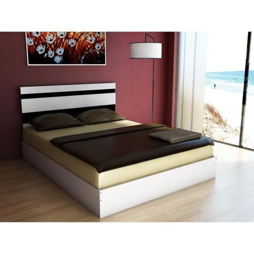 respaldo de cama blanco y wengue (162 cms de largo)