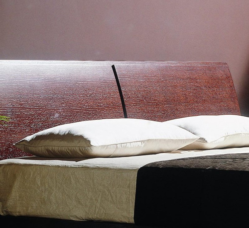respaldo de cama king en madera roble wenge