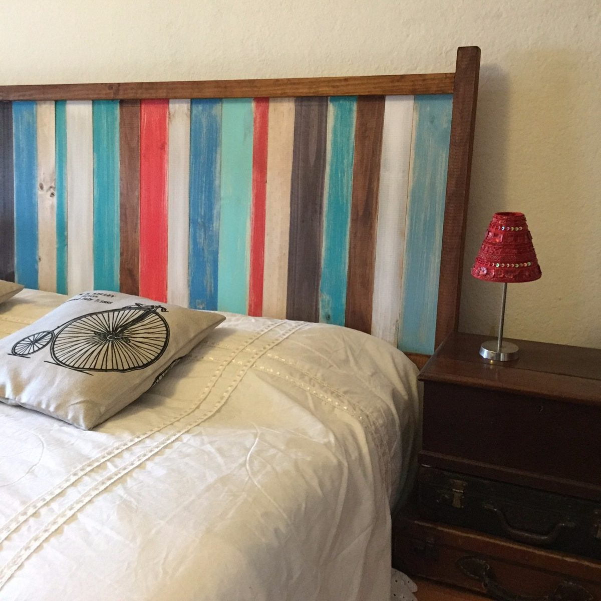 Respaldo de cama madera r stico en mercado libre - Respaldo para cama ...