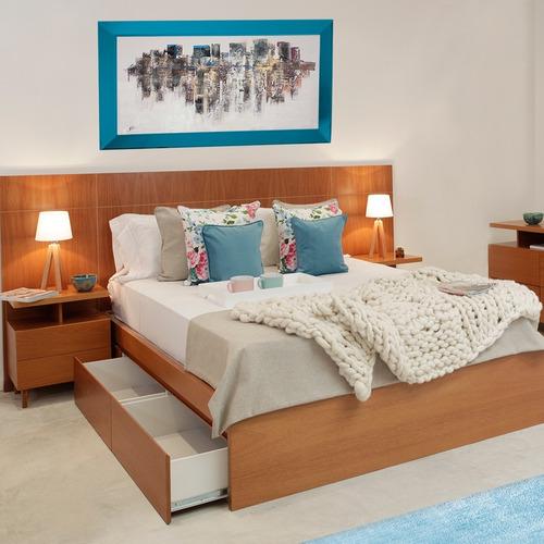 respaldo de cama sommier madera laqueada forbidan muebles