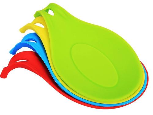 respaldo de cuchara de silicona zotoon, juego de 4