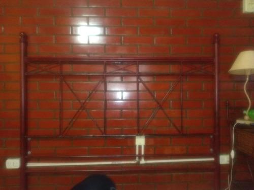 respaldo de somier 2 plazas hierro artístico con mesas de lu