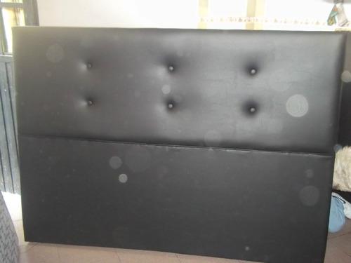 respaldo de sommier completamente tapizado 2 plazas cama