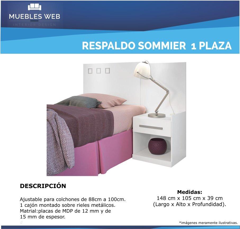 Respaldo De Sommier De 1 Plaza - Cabecera Para Cama - $ 1.890,00 en ...