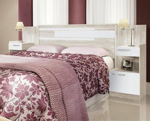 respaldo de sommiers - cama - mesas de luz- 2 plazas y 2 1/2
