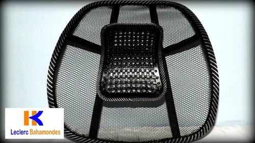 respaldo lumbar ergonomico con fijos masajeadores