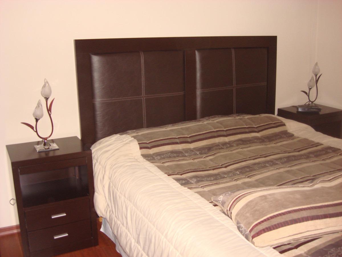 Respaldo P/ Sommier/cama Marco Laqueado Y Tapizado Ecocuero ...