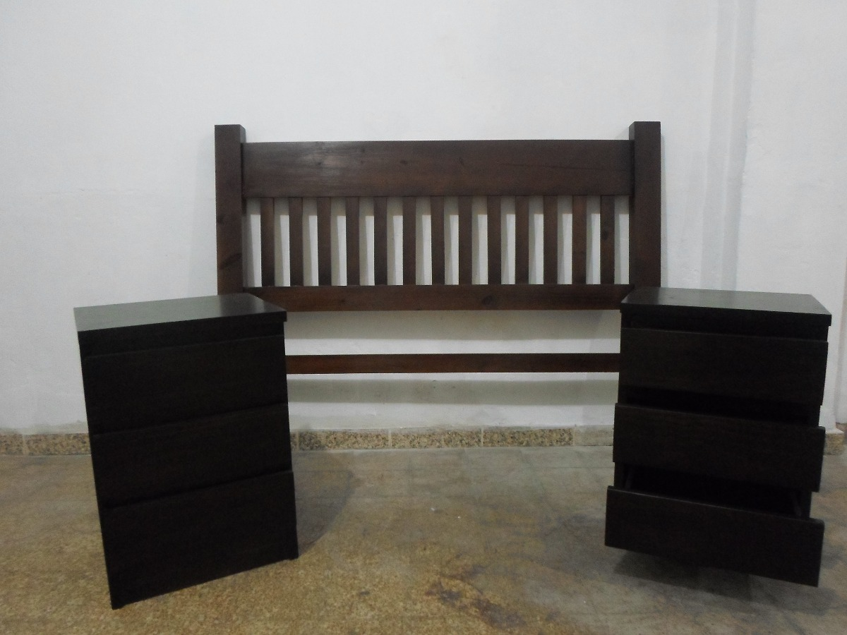 respaldo para sommier de 140 macizo en pino en mercado libre. Black Bedroom Furniture Sets. Home Design Ideas