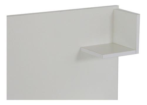 respaldo sommier cama con mesas de luz integradas para colchones de 140 a 200 cm en melamina +
