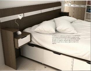 respaldo sommiers cama con mesitas luz grande 240x108 ideal