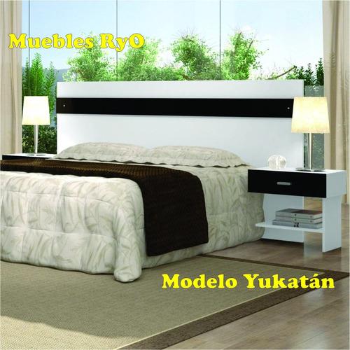 respaldo sommiers con mesas de luz  modelo cuernavaca m. ryo