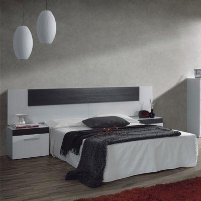 respaldo sommiers con mesas de luz  modelo: salma mueblesryo