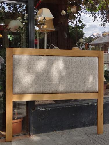respaldo tapizado - madera y tapizado color a eleccion