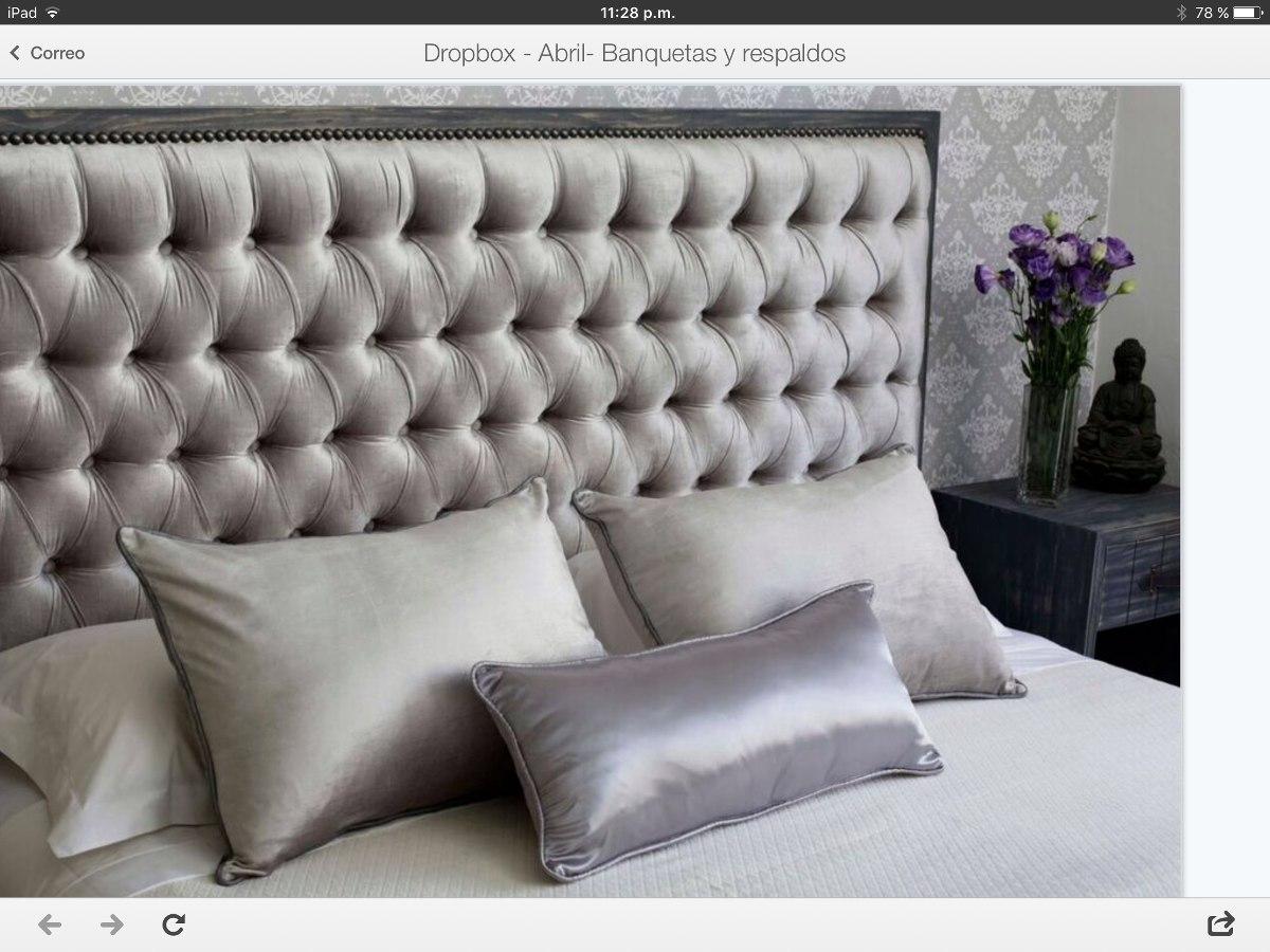 Respaldos capitone en mercado libre for Cuanto cuesta una cama king size