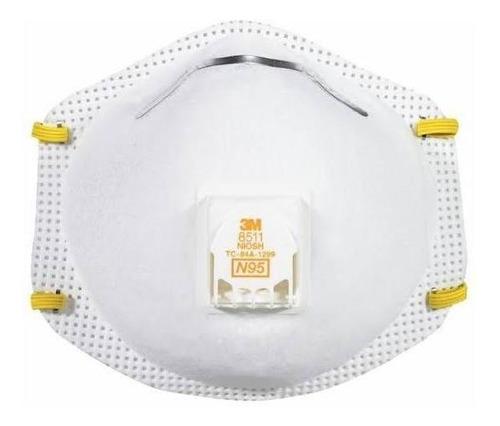 respirador 3m 8511 n95 con válvula. aprobado niosh