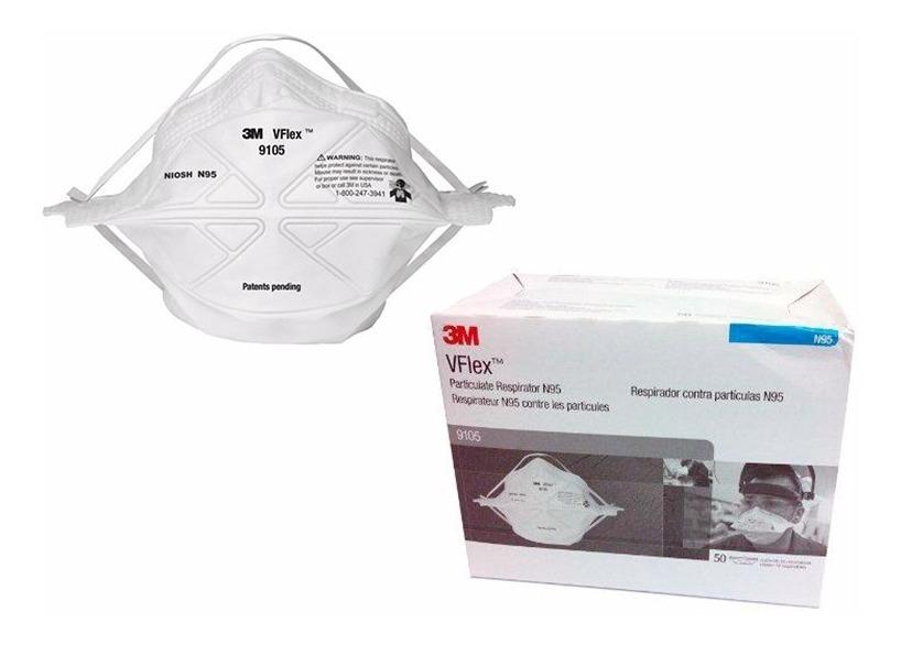 Respirador Caja 3m Vflex 50 9105 X Mascarilla Descartable