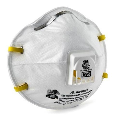 respirador 3m barbijo 8210v n95 con valvula x 10pz