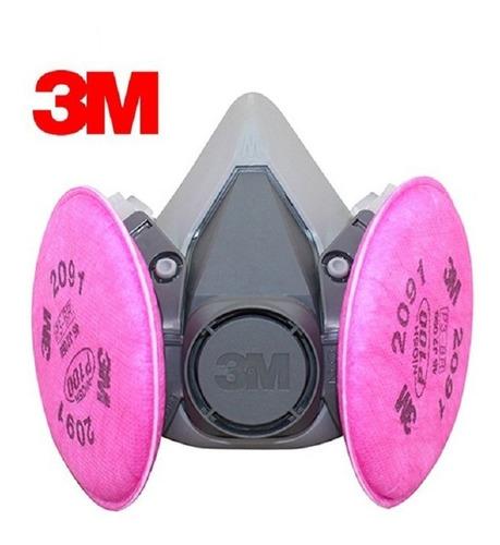 respirador 3m con filtros p100 cartuchos 2091 original