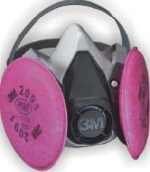 respirador 3m doble filtro niosh p100 polvos humos metalicos