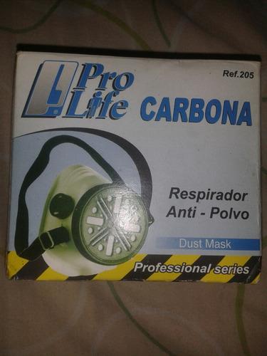 respirador anti polvo pro life carbona 205