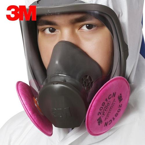 respirador con filtros p100 cara completa 3m
