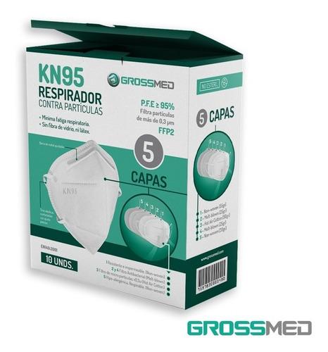 respirador contra partículas kn95 grossmed - blanco