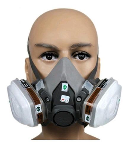 respirador máscara 3m semi facial 6200 completa-super oferta