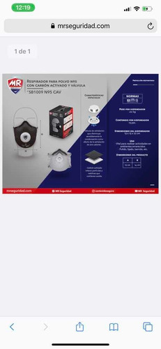 respirador mascarilla con n95 con carbón activado