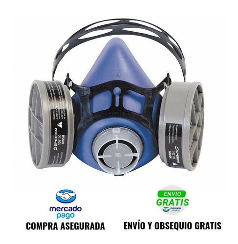 respirador media cara + cartuchos multigas fumigar pintura