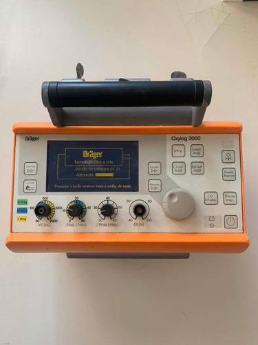 respirador oxylog 3.000 perfeito estado+equipamentos