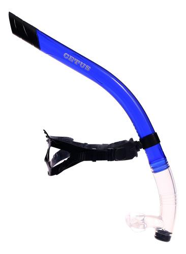 respirador snorkel frontal de natação cetus aires pro
