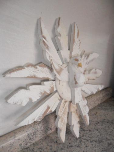 resplendor de madeira nº 3 artesanato decoração  (fp15)