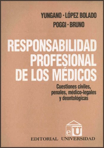 resposabilidad profesional de los medicos