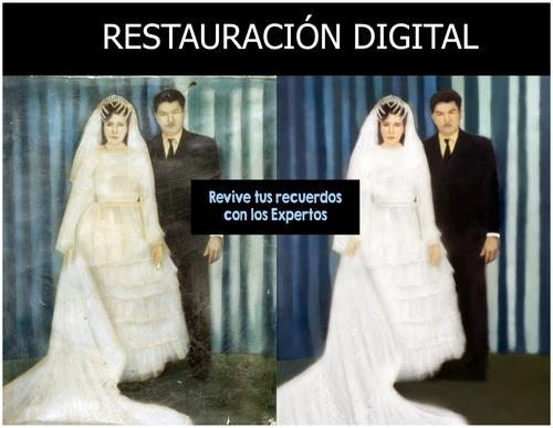 restauración, coloración, fotomontajes de fotografías